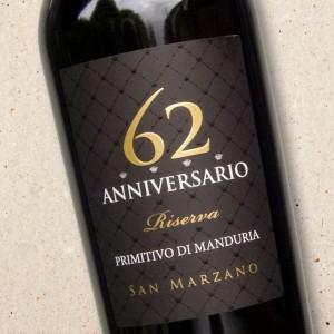 Primitivo di Manduria Riserva '62 Anniversario' San Marzano