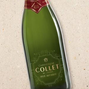 Champagne Collet Brut Art Deco