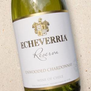 Vina Echeverria Unwooded Chardonnay Reserva