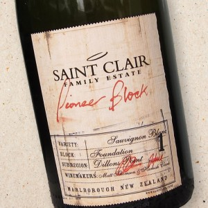 Saint Clair Pioneer Block 1 'Foundation' Sauvignon Blanc
