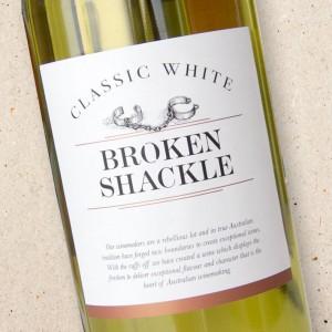 Broken Shackle Classic White 2020