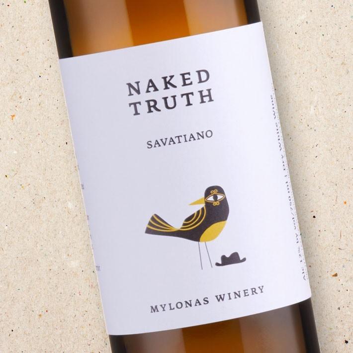 Mylonas Winery, Naked Truth, Savatiano, Natural, White