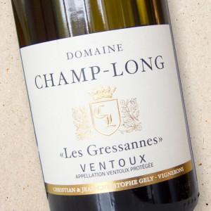 """Domaine Champ-Long """"Les Gressannes"""" Ventoux Blanc 2018"""
