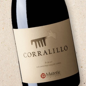 Corralillo Syrah, Matetic Vineyards 2016