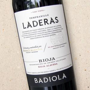Badiola Tempranillo de Laderas Rioja 2018