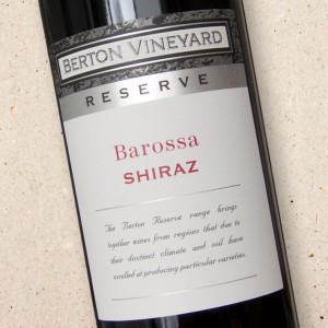 Barossa Shiraz Reserve Berton Vineyard
